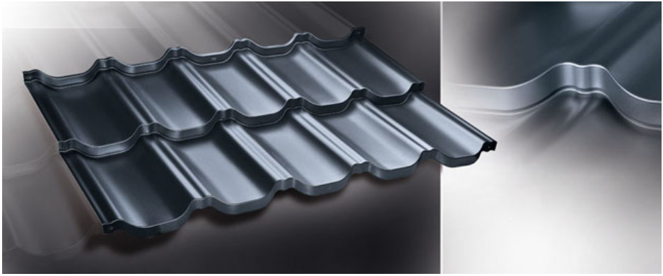 Modular steel sheet roof tiles, Corrugated sheets & Trapezoidal profiles